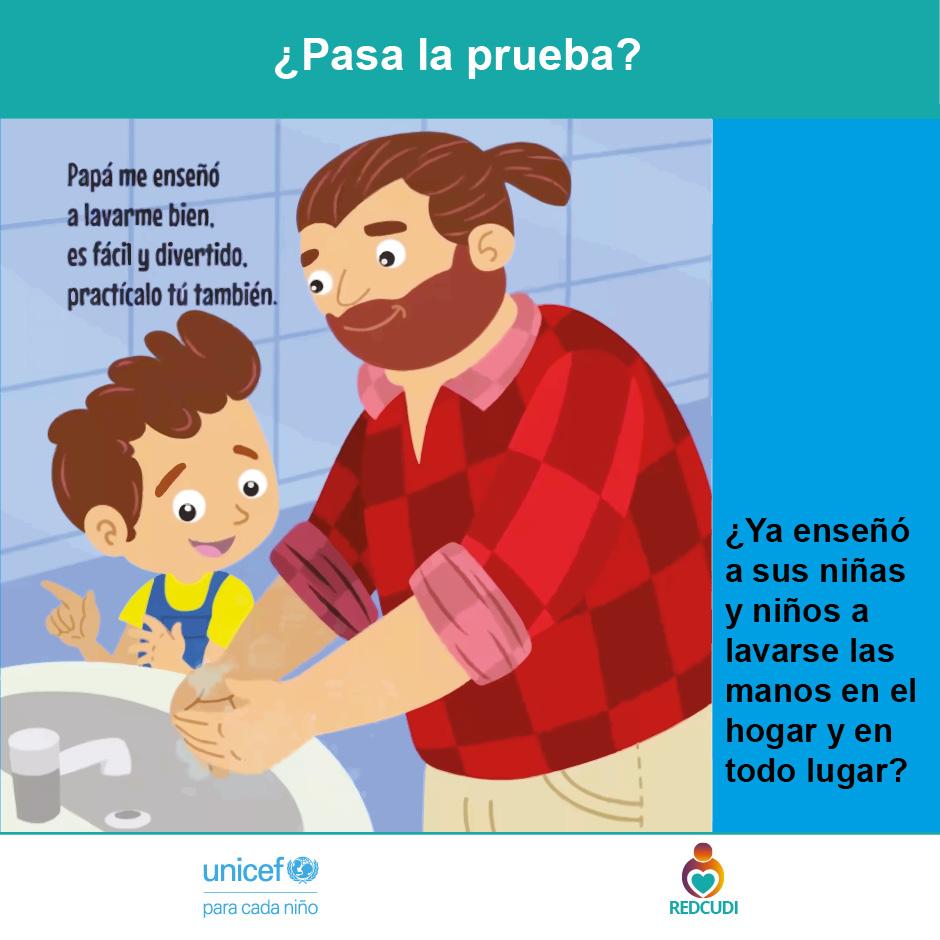 Afiche 3. Papá lavado de manos