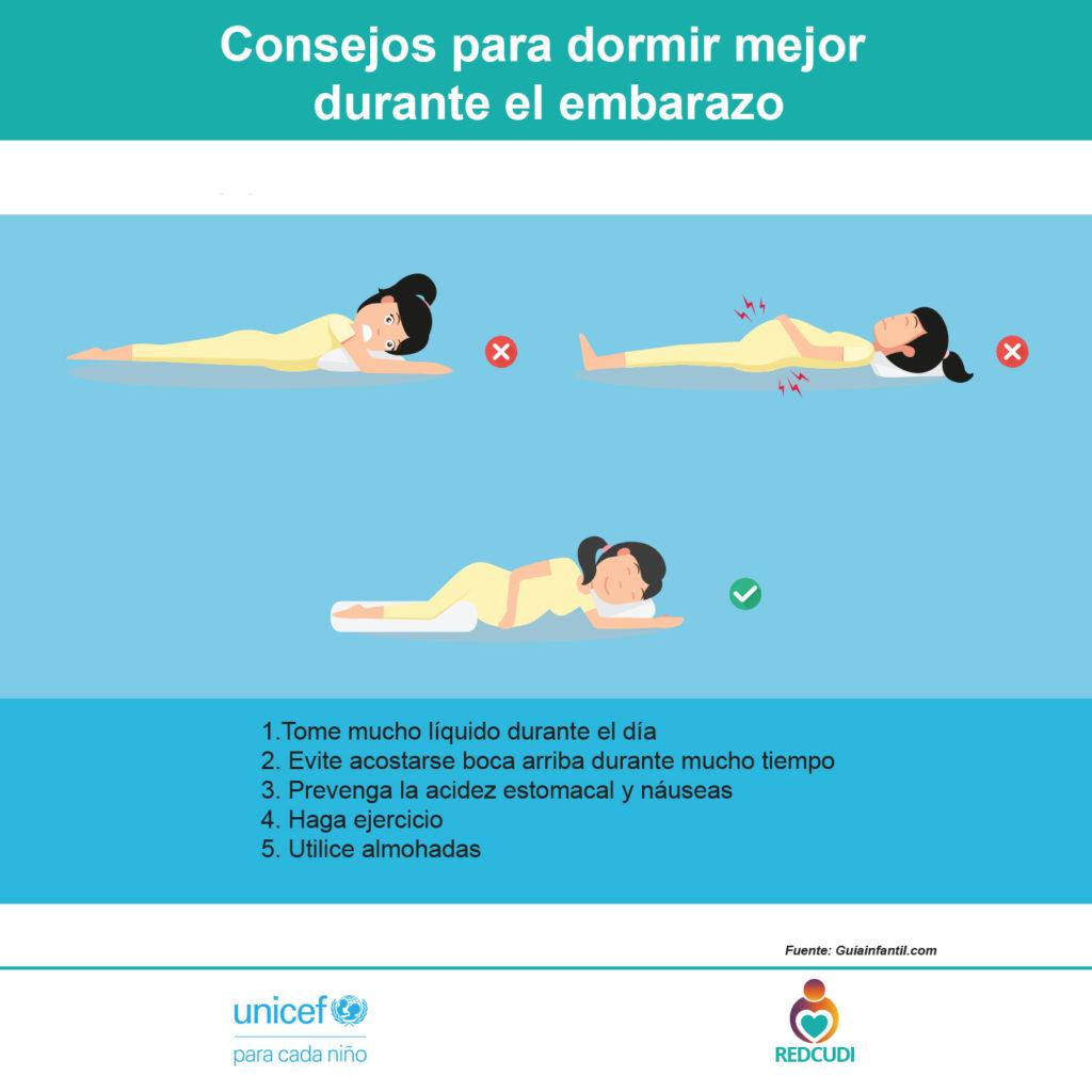 Para mejor dormir en el embarazo
