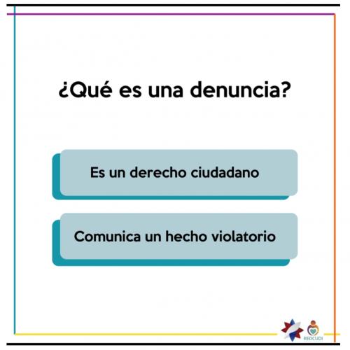 Una  denuncia es el ejercicio del derecho ciudadano, mediante el cual se formaliza la comunicación de presuntos hechos violatorios de los derechos de las personas menores de edad. Pueden interponer una denuncia: madre, padre, responsable, encargo de alternativa, docente, asistente y/o institución.
